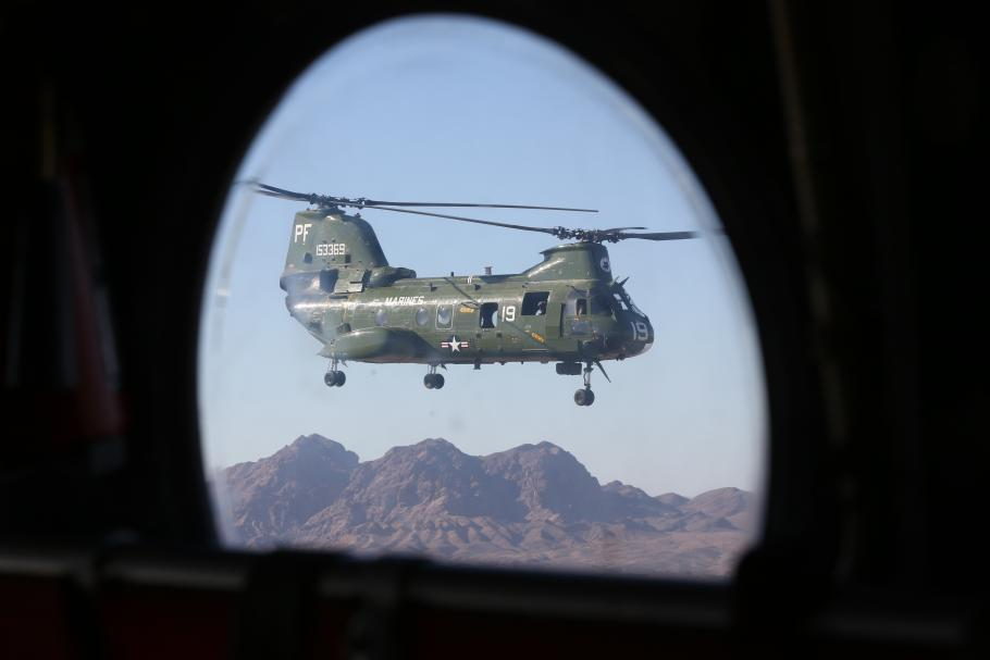 CH-46 153369 In Flight