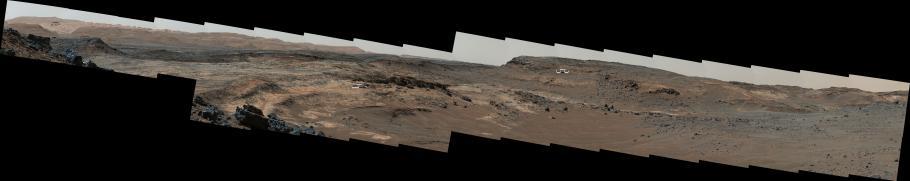 Mosaic of Terrain Types on Mount Sharp on Mars
