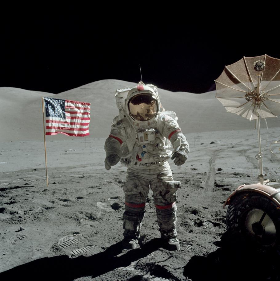 Cernan on the Moon