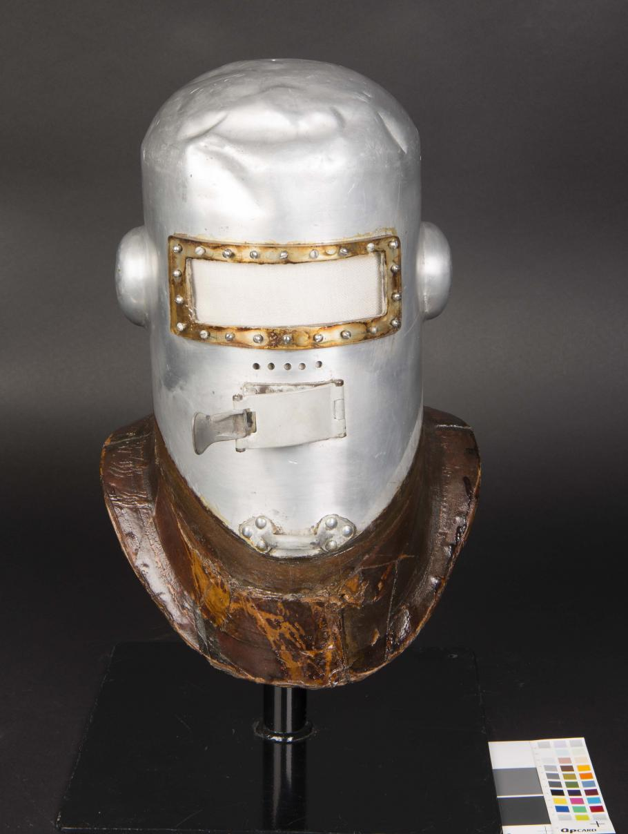 Post Helmet Before Conservation
