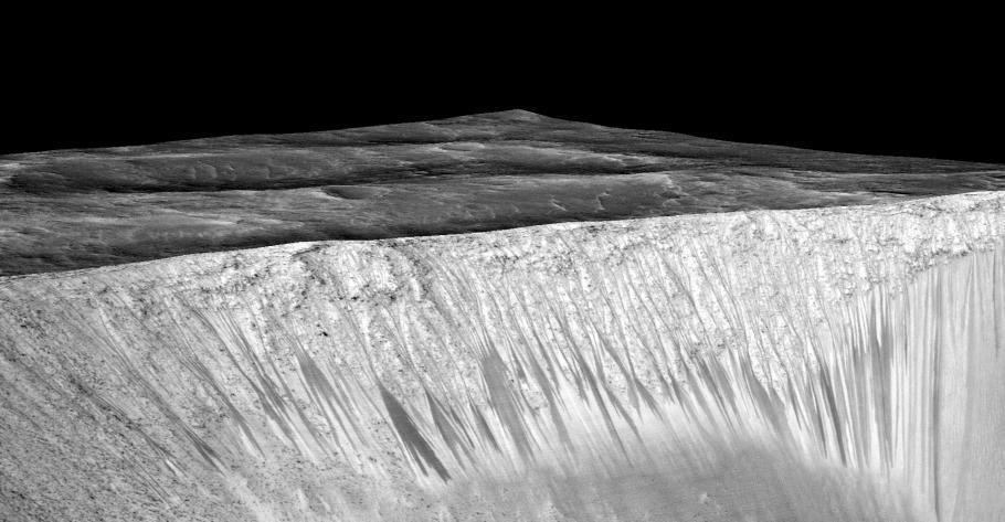 Recurring Slope Lineae on Garni Crater