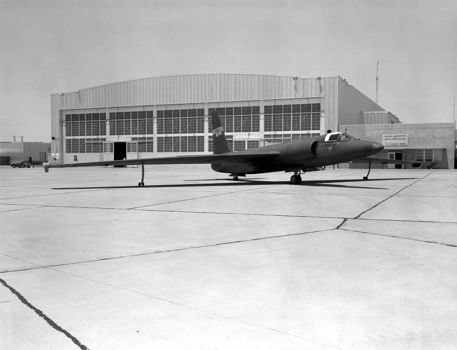 U-2 Covered in Black Paint