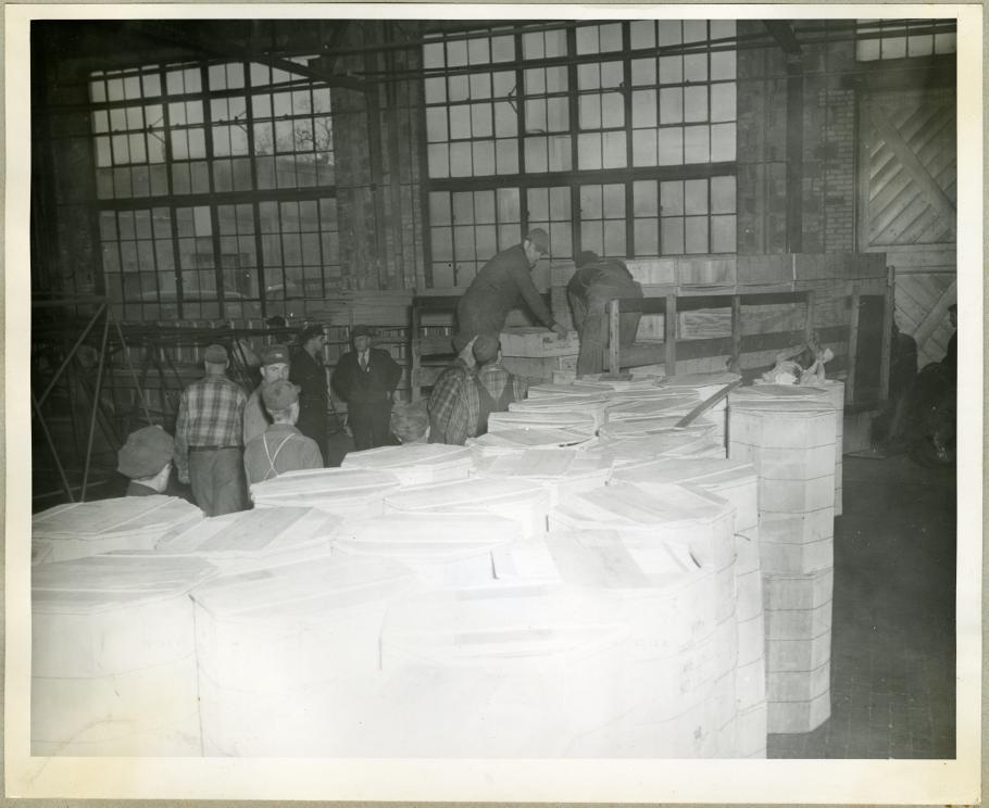 Unloading Cases of Turkeys