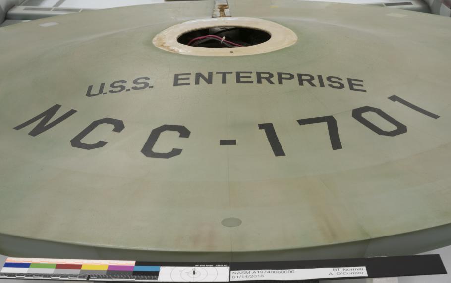 <i>Enterprise</i> Saucer Close Up