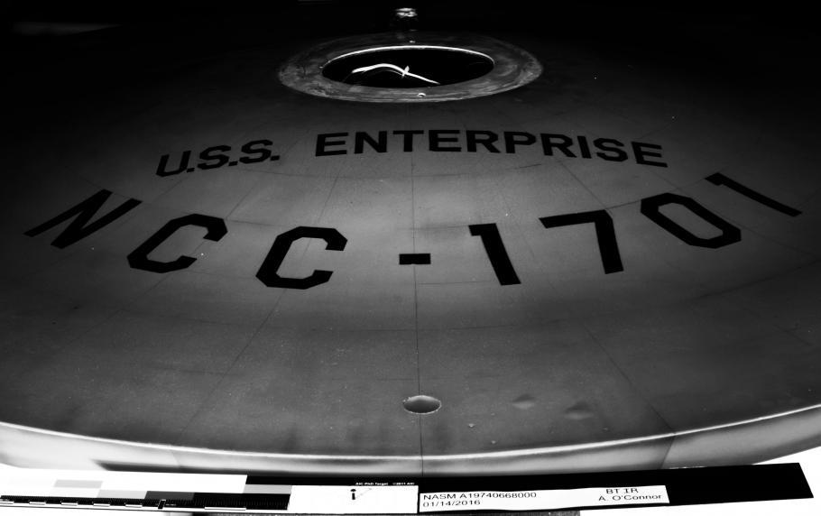 <i>Enterprise</i> Saucer Under Infared