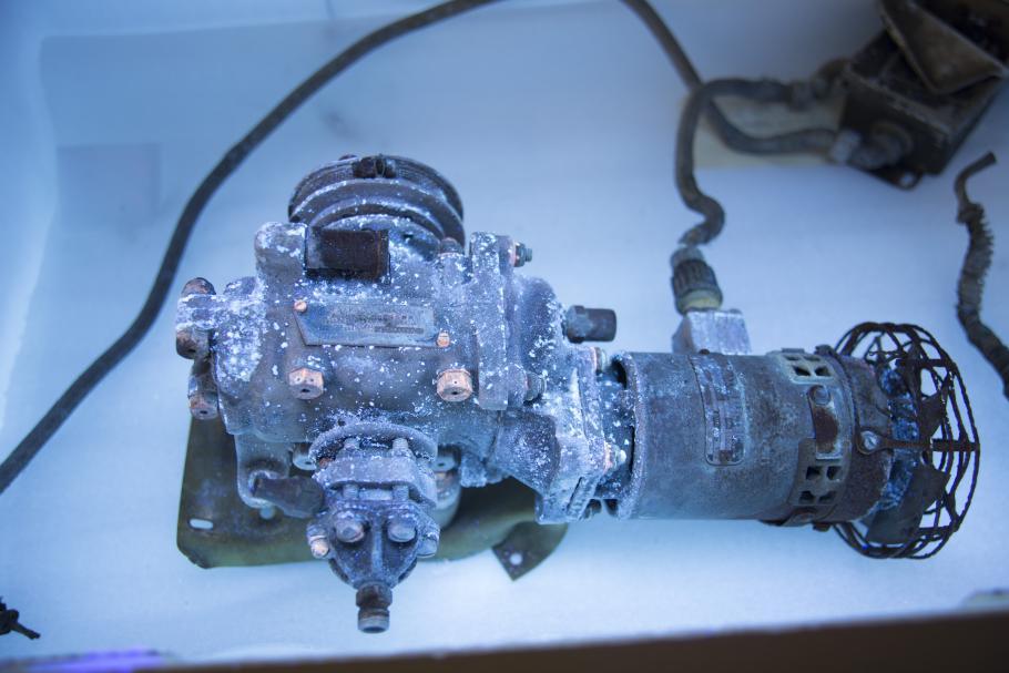 General Electric Compressor Viewed Under UV Illumination