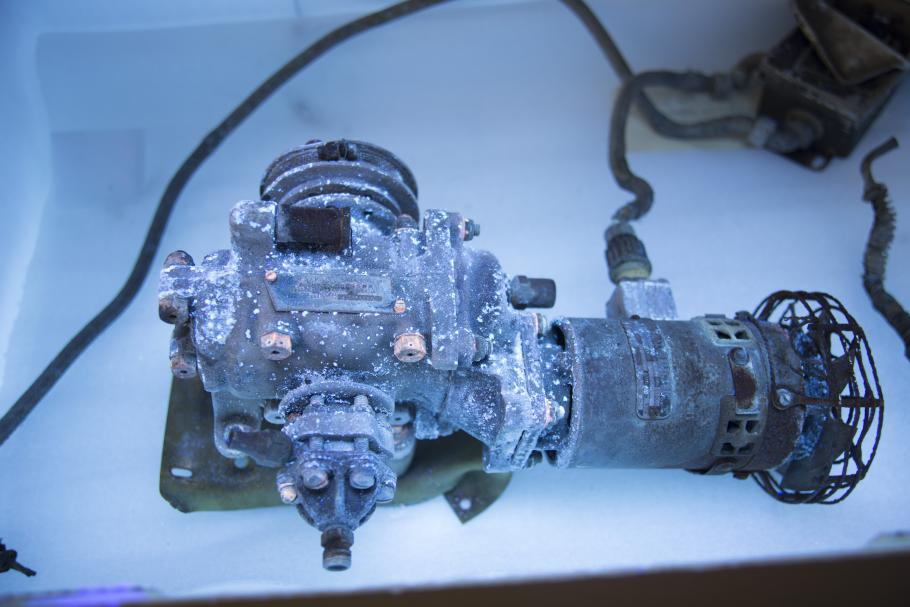 General Electric Compressor Viewed Under UV Illumination