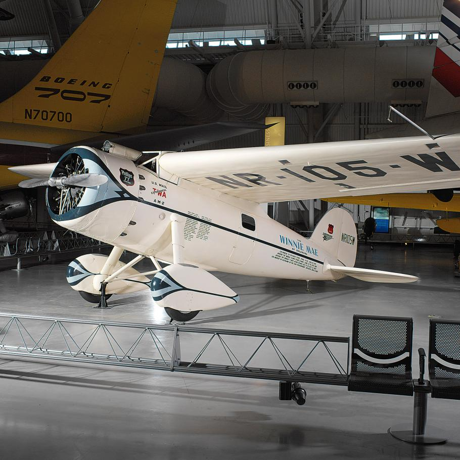 Lockheed Vega Winnie Mae at the Udvar-Hazy Center