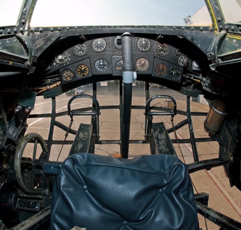 Vought V-173 Flying Pancake Cockpit