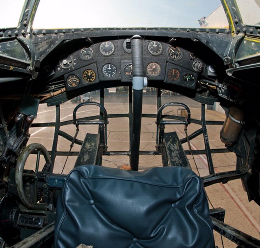 Vought V-173 Flying Pancake Cockpit