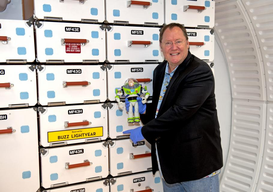 Buzz Lightyear and John Lasseter