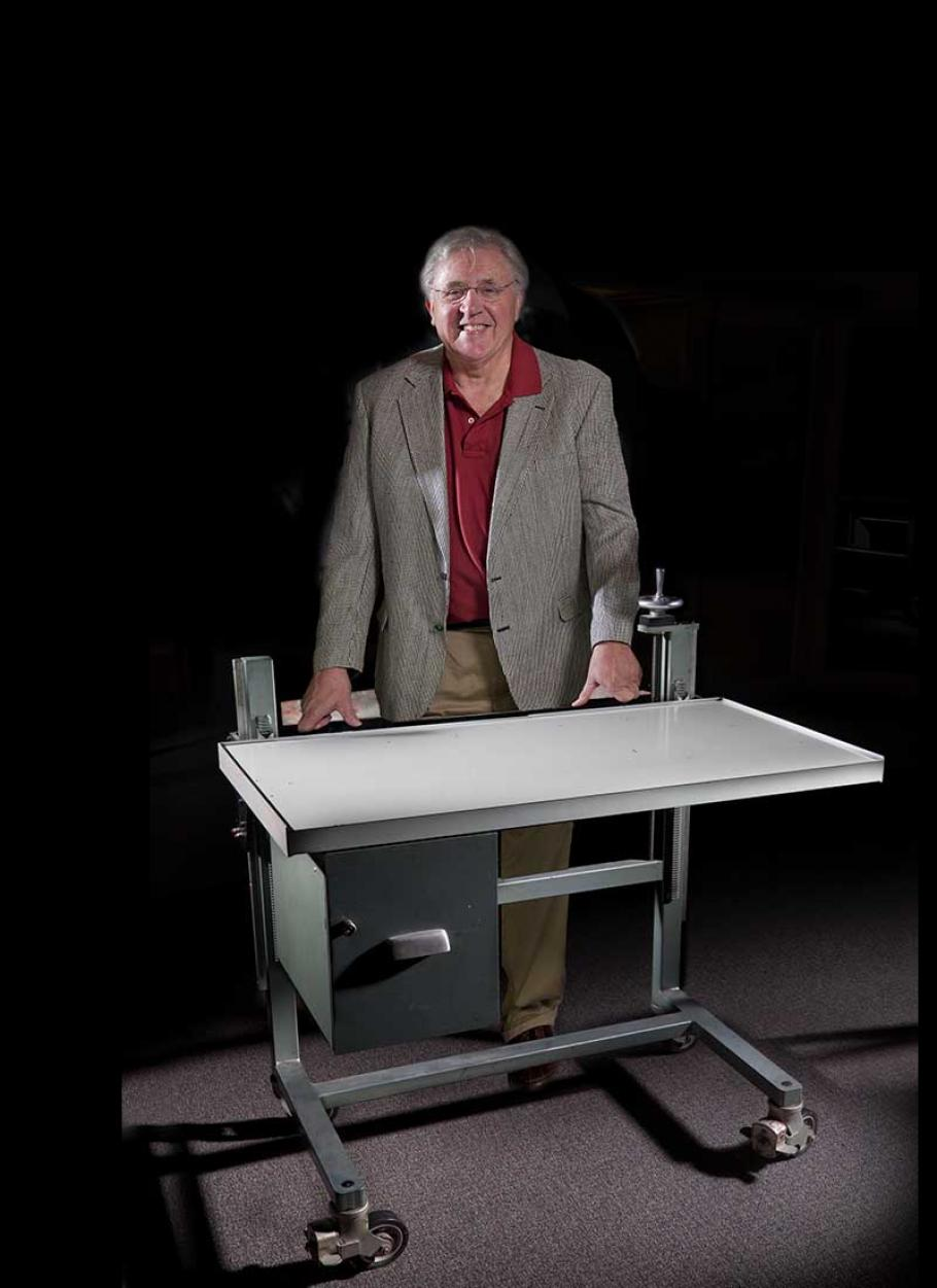 Von Hardesty with CIA Elevating Table