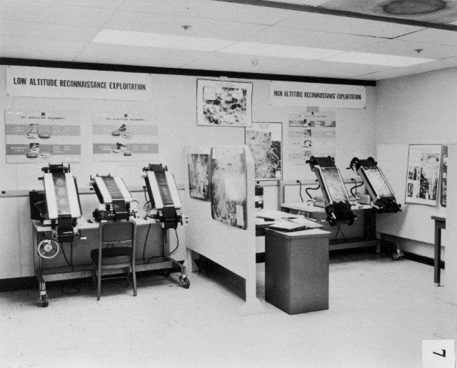CIA Light Table Inside NPIC in 1962