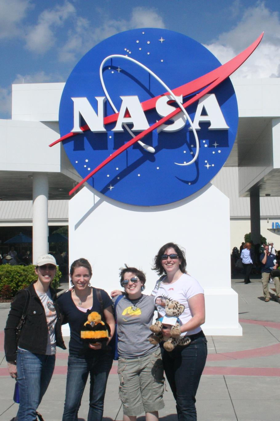 Visitors at the Kennedy Space Center