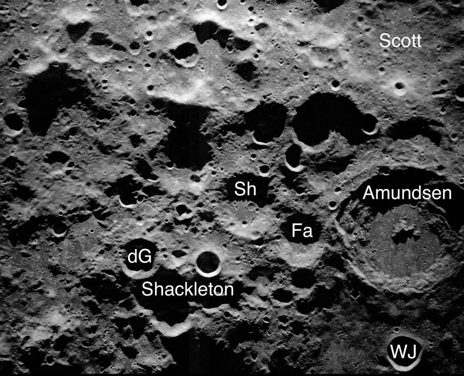 Radar Image of the Moon.