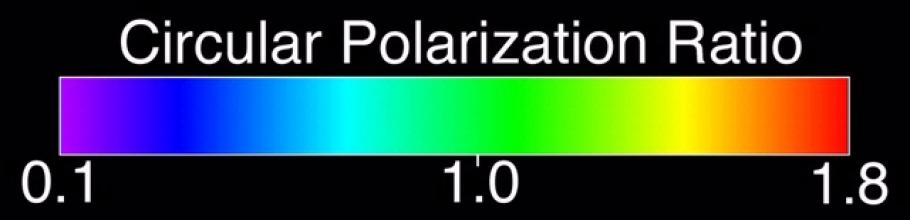 Color Bar showing Polarization