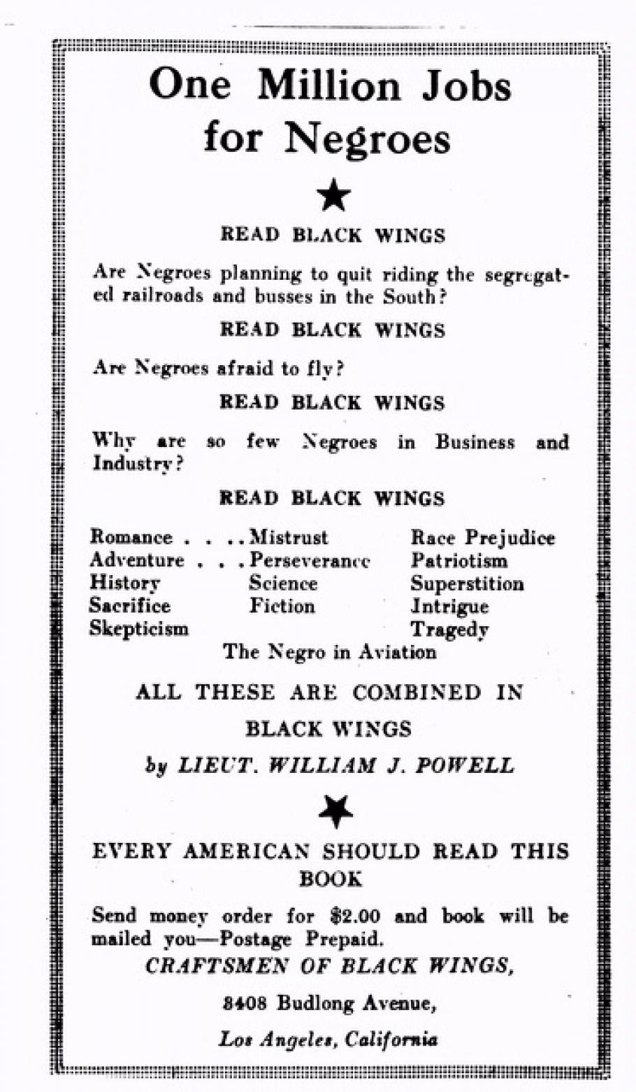 Black Wings: The Life of African American Aviation Pioneer