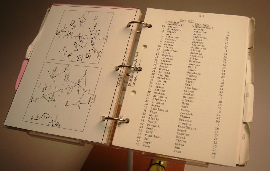 Bill Anders' lunar module pilot checklist