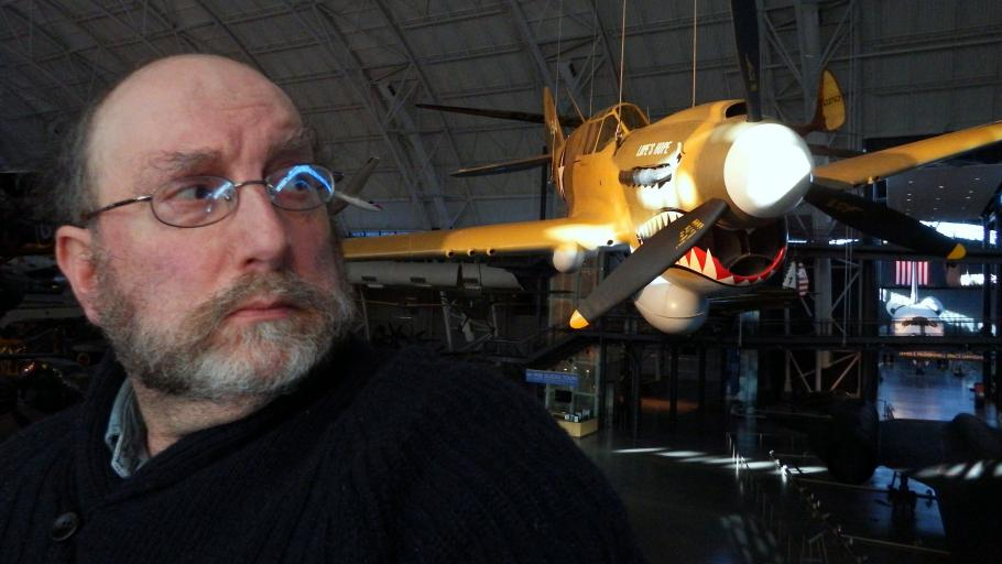 Museum Selfie with the Curtiss P-40