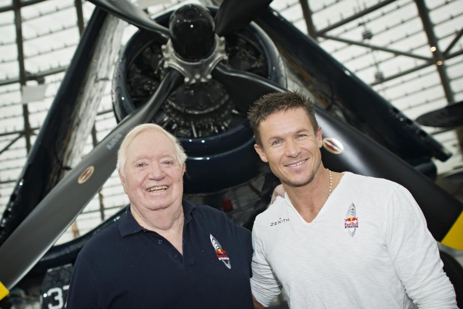 USAF colonel (ret.) Joe Kittinger and Felix Baumgartner