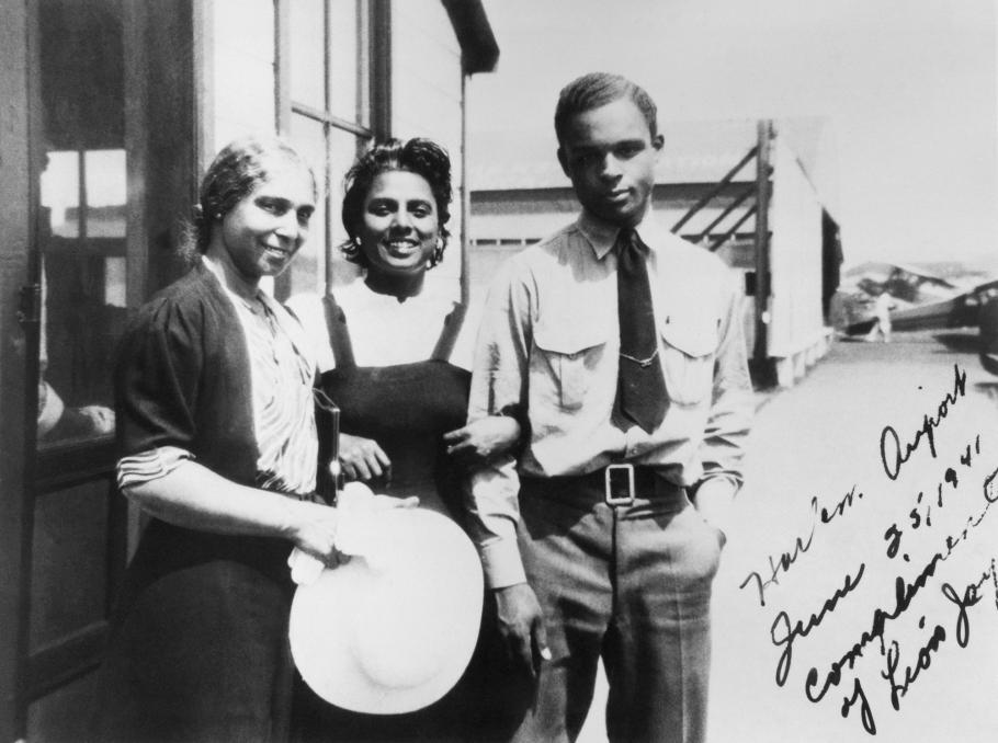 Willa Brown with Perry Young and his Mother