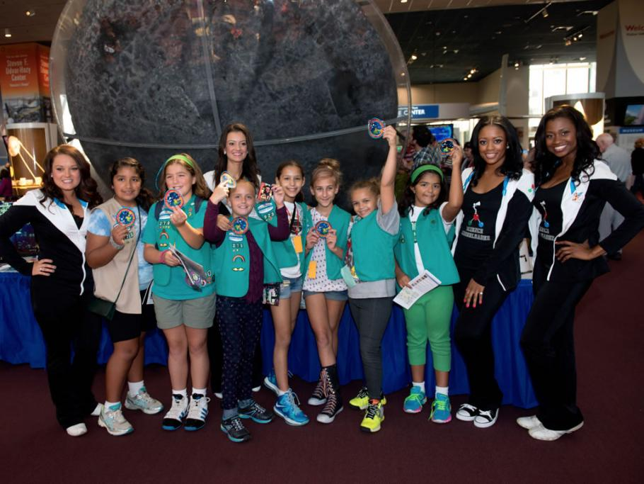 Girl Scouts at the National Air and Space Museum