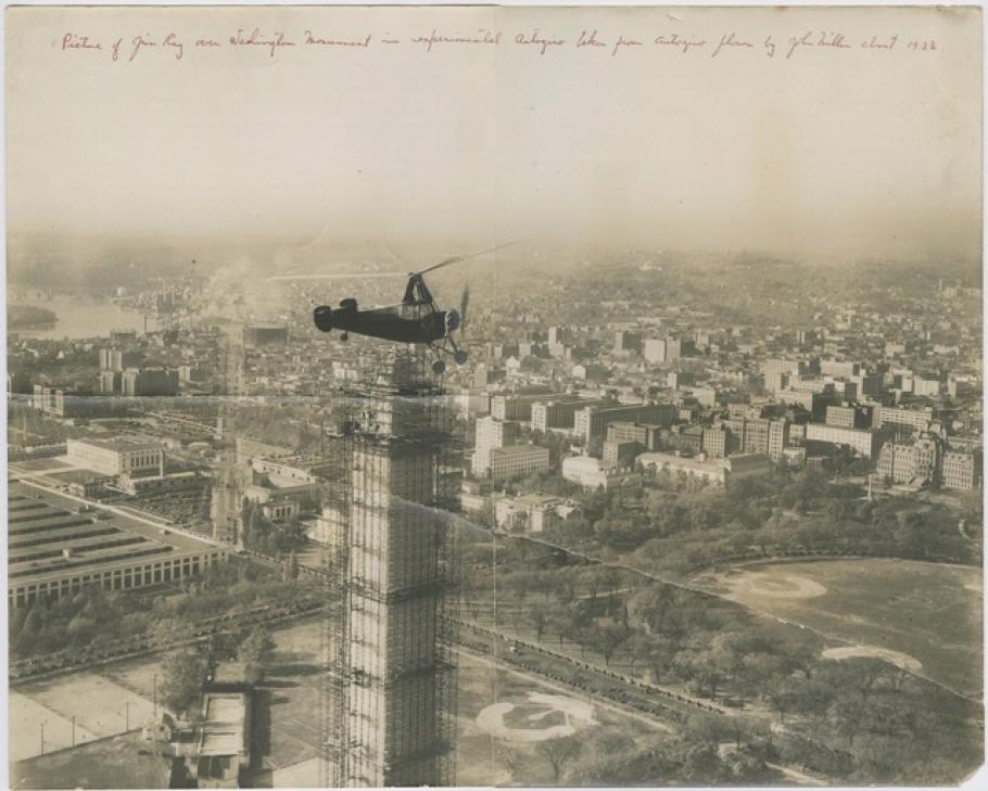 Jim Ray Flies over the Washington Monument