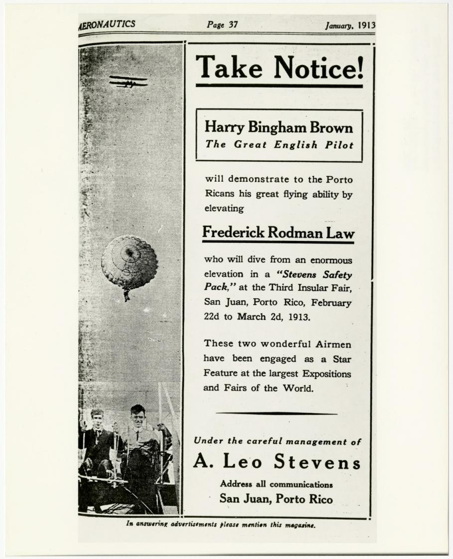 Advertisement for Frederick Rodman Law and Harry Bingham Brown
