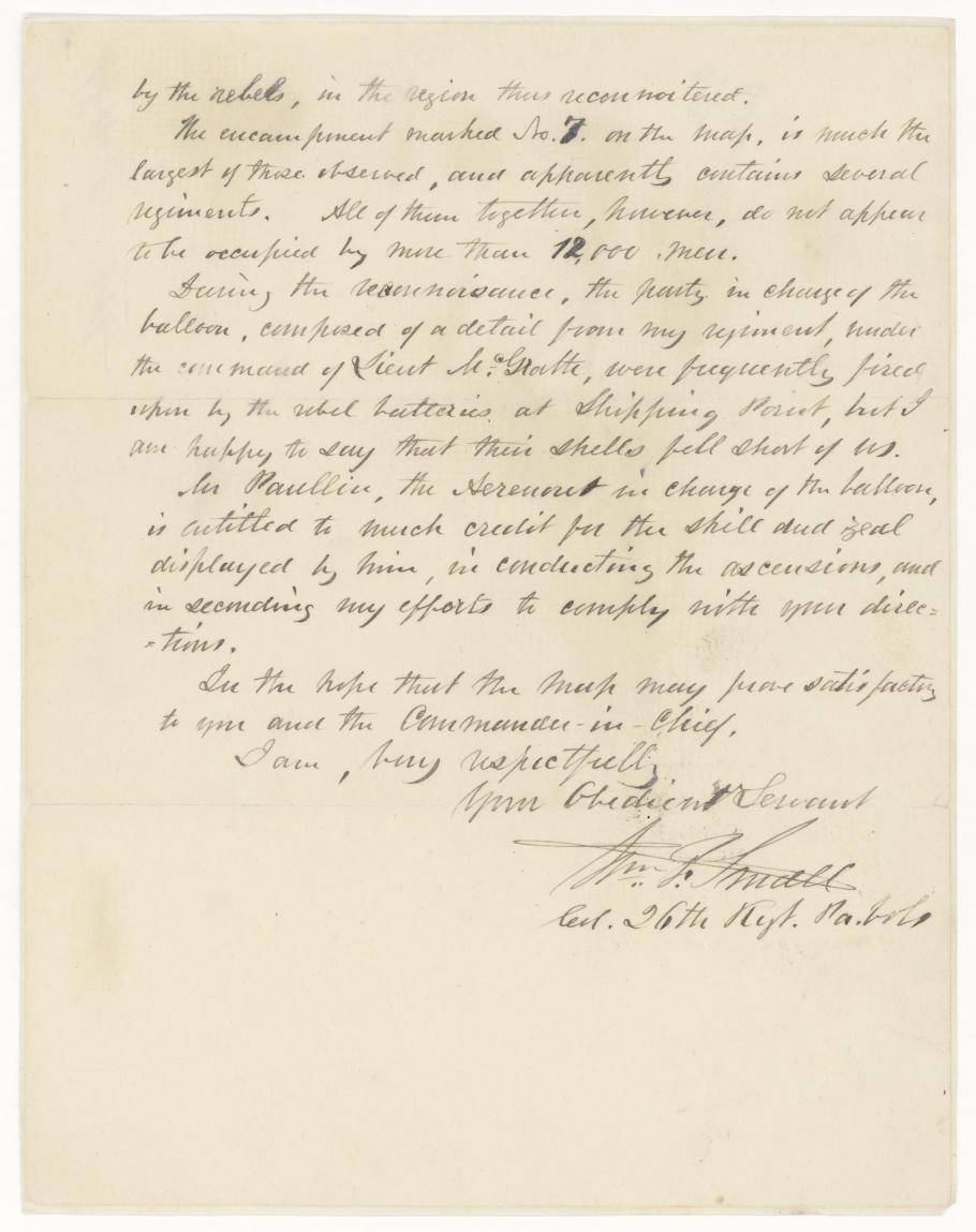Letter by Colonel William F. Small (Page Two)
