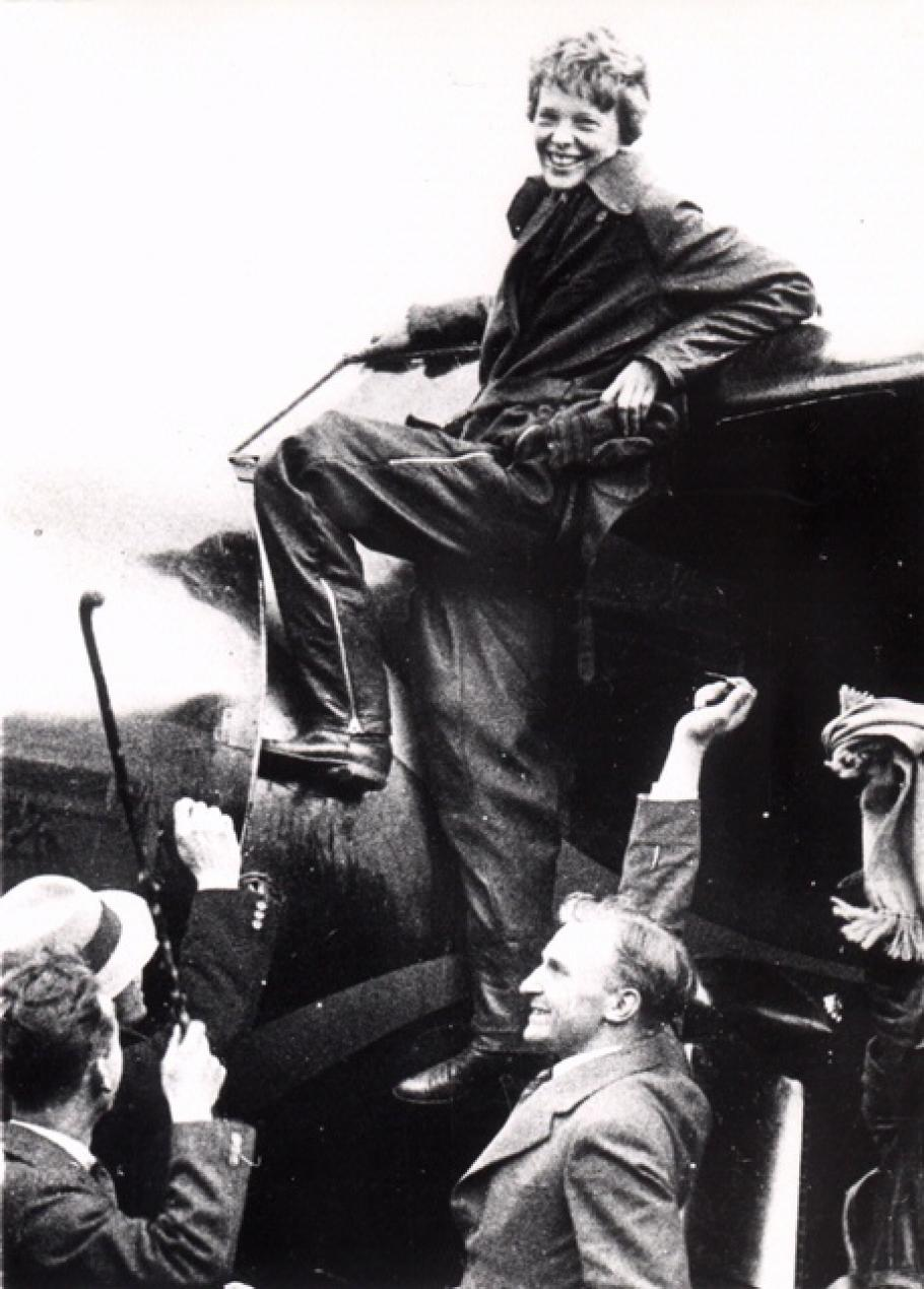 Amelia Earhart Arrives In Ireland