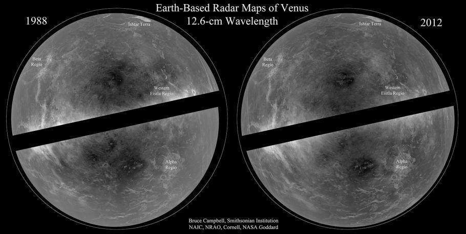 Map of Venus