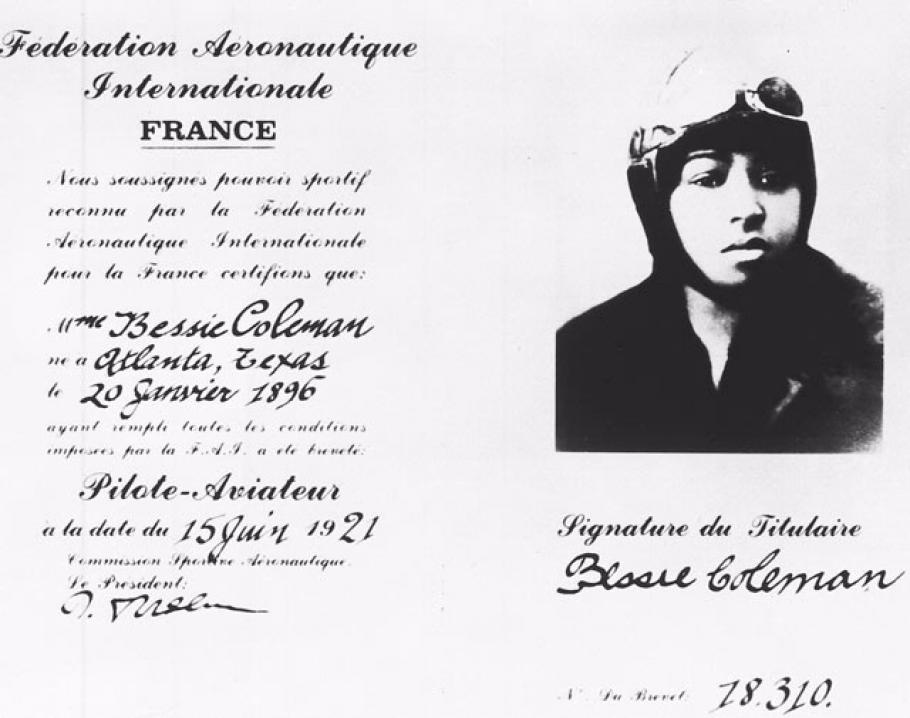 Bessie Coleman license