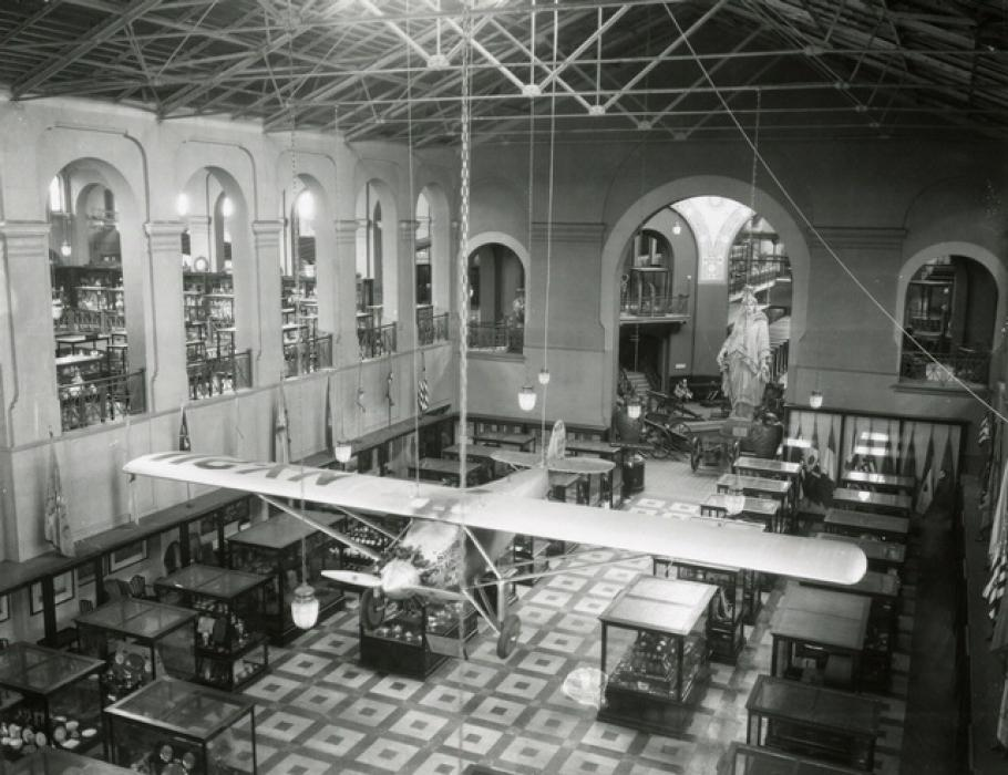 <i>Spirit of St. Louis</i> in Arts & Industries Building