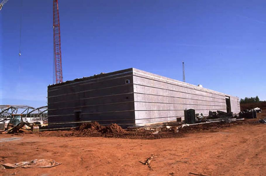 Central Utility Plant has walls and roof