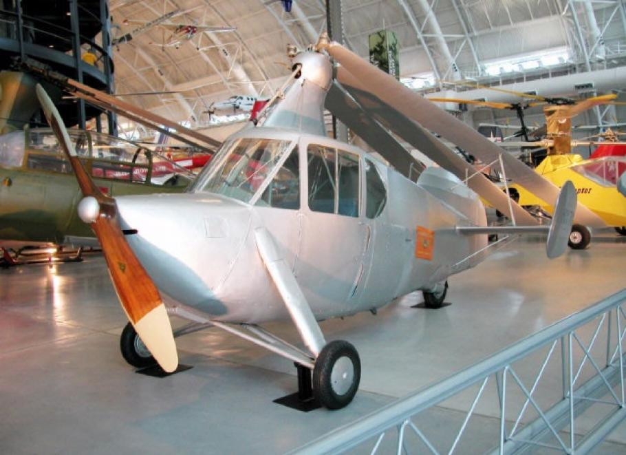 Autogiro Company of America AC-35 at the Steven F. Udvar-Hazy Center