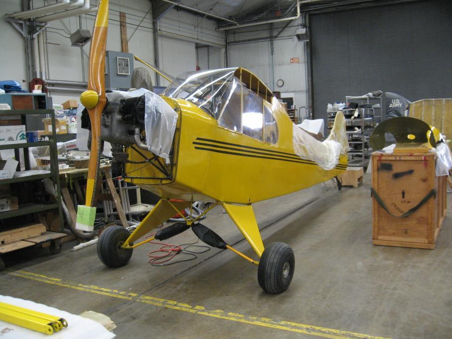 Piper J-2 Cub in the Restoration Shop