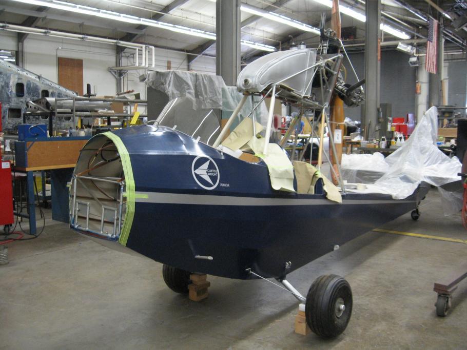 Curtiss-Wright CW-1 Junior in Restoration Shop