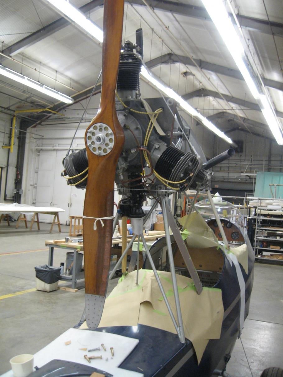 Curtiss-Wright CW-1 Junior Engine in the Restoration Shop
