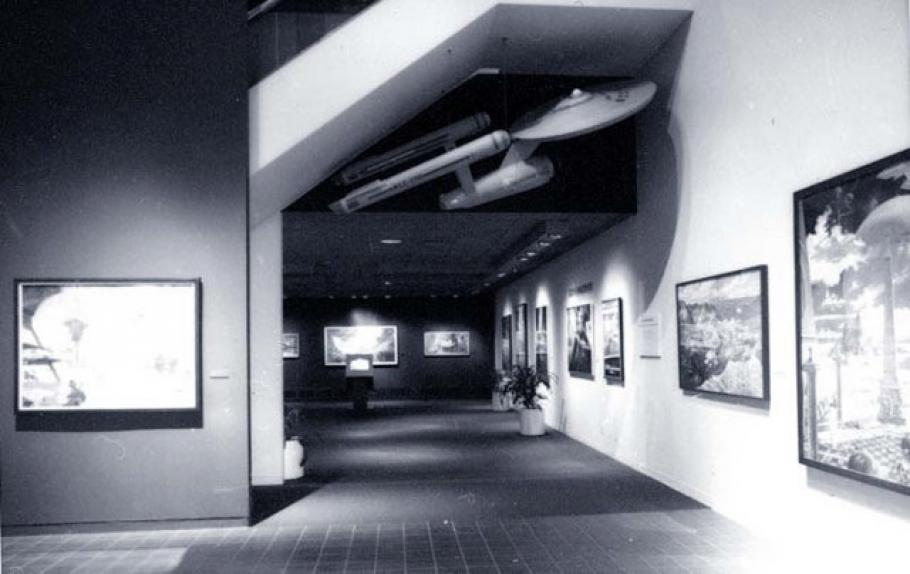 "Star Trek Starship \""Enterprise\"" Model on display in Flight in the Arts"
