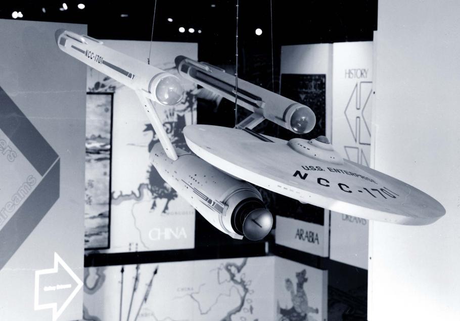 "Star Trek Starship \""Enterprise\"" on display in Rocketry and Spaceflight"