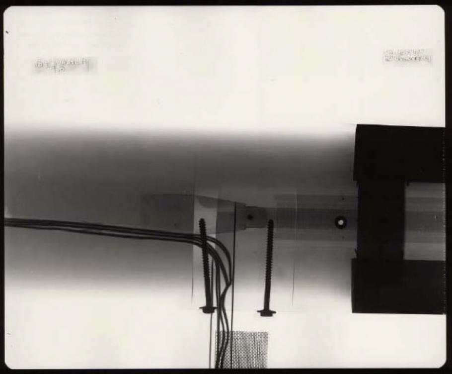 "Star Trek \""Enterprise\"" Model Restoration - X-Ray Image - Port Nacelle Top"