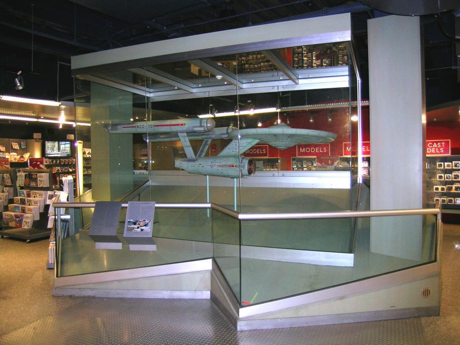 """Star Trek Starship \""""Enterprise\"""" Model on display in the Museum Shop"""