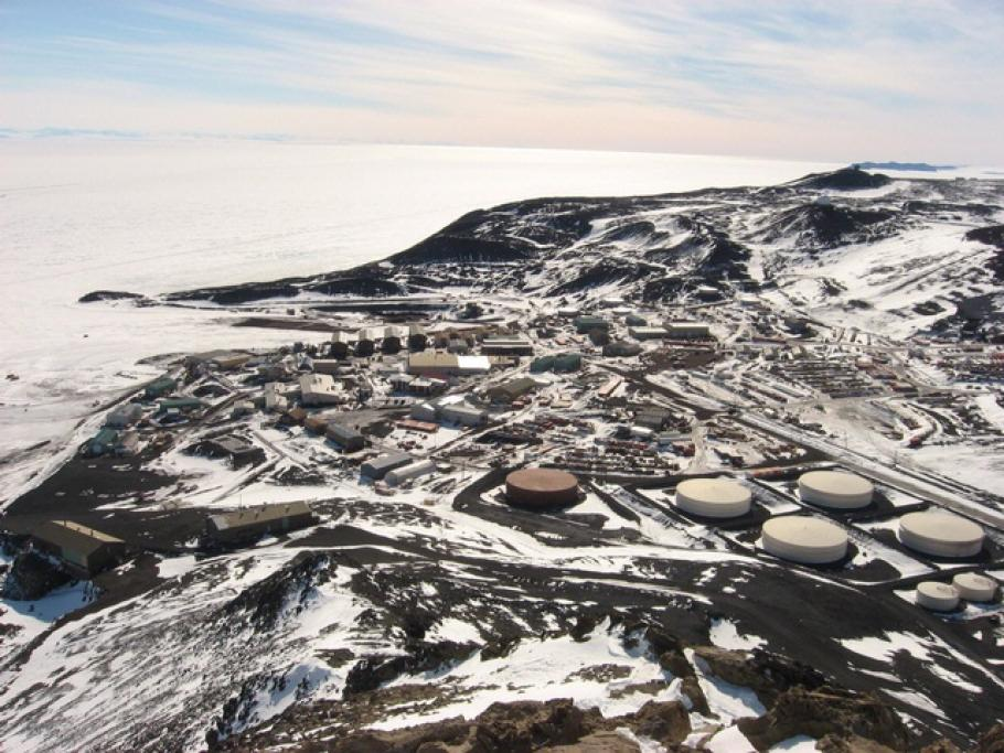 McMurdo Station on Ross Island, Antarctica