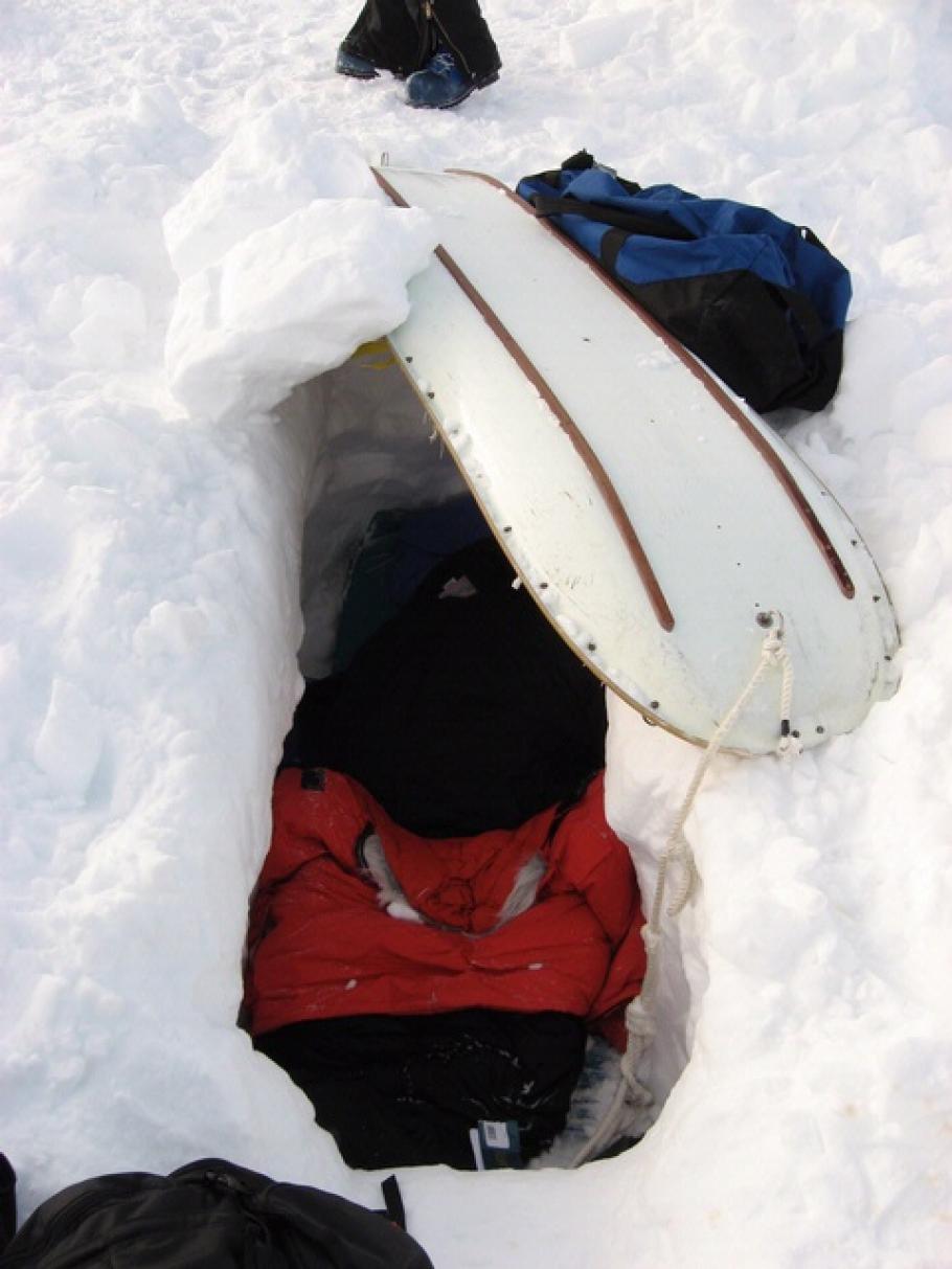 Maria Banks' Survival Trench, Antarctica