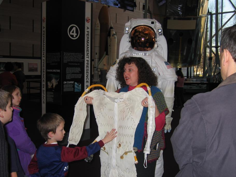 Beth Wilson and Spacesuit