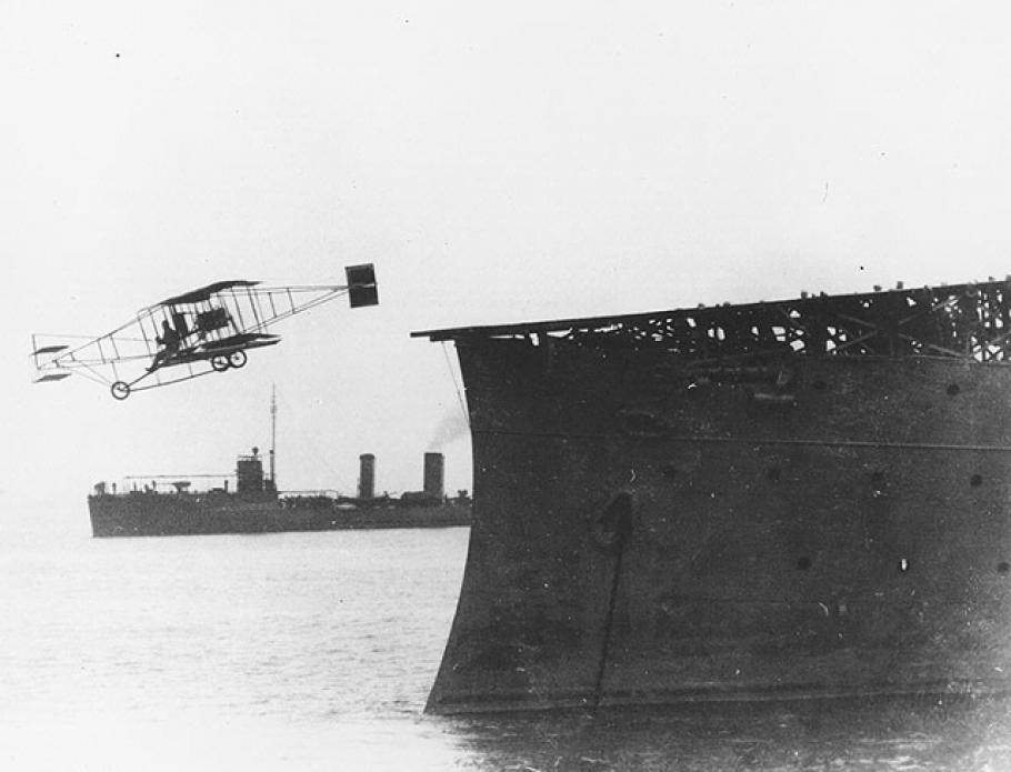 First Airplane Takeoff from Warship November 14, 1910