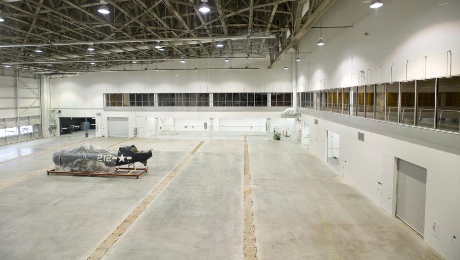 First Aircraft Inside the Mary Baker Engen Restoration Hangar