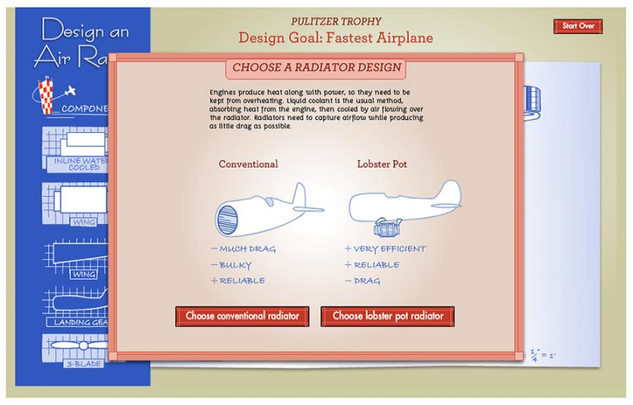 Design an Air Racer Interactive