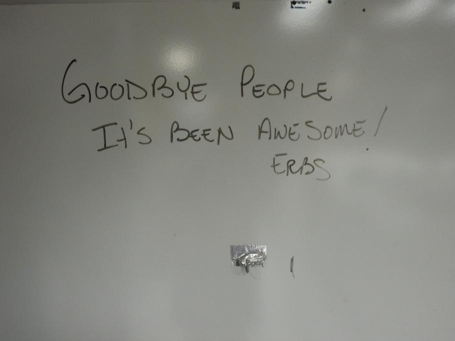 Whiteboard at the Kennedy Space Center