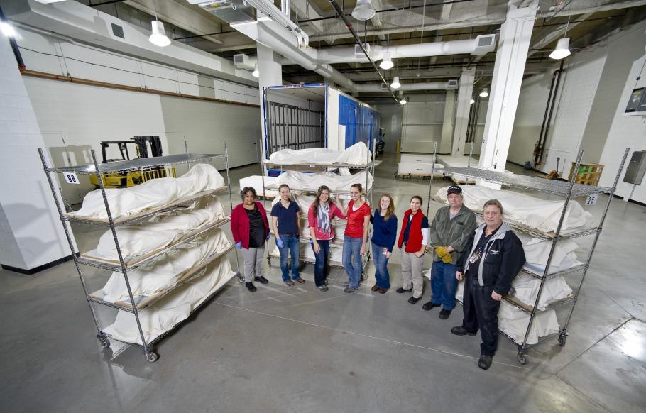 Storage Facility at the Steven F. Udvar-Hazy Center